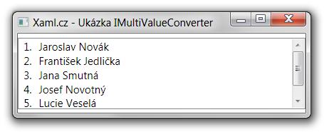 Ukázka výsledku konvertoru pro přidání čísel