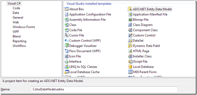 ADO.NET Entity Data Model